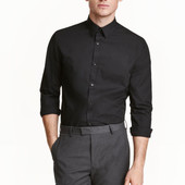Рубашка H&M Slim fit Easy iron