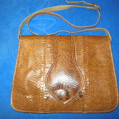 Суперовая сумка-планшет из натуральной кожи змеи, кобра!