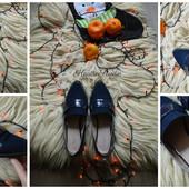 Стильные остроносые туфли без каблука,р-р 38