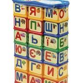 Большие кубики абетка, буквы Юніка