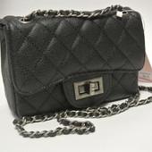 3-154 Сумка Chanel mini кожа икра / Женская сумочка / клатч