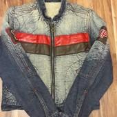 Джинсовая куртка на меху M-L