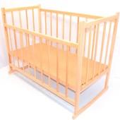 Кроватка-качалка деревянная №3