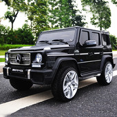Детский электромобиль Mercedes G65 vip: 90W, 2.4G, eva-колеса, эко-кожа - black
