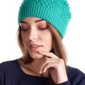 Теплая двойная вязаная шапка, разные цвета.