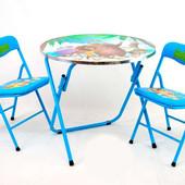 Столик с двумя стульчиками Мадагаскар 466-221 с.29, голубой, в кор-ке