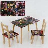 """Столик Мини """"Трансформер"""" С 028 60*46 см. /столик + 2 стула/"""