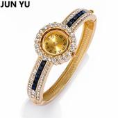 Часы - браслет с ослепительными кристаллами.