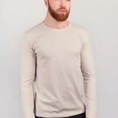 Батник однотонный мужской, свитер тонкий 198F015