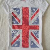 Young Dimension крутая фирменная футболочка для стильной девочки с принтом 7-8 лет 128 см