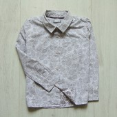 Стильная рубашка для мальчика. M&S. Размер 5-6 лет