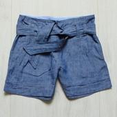 Стильные льняные шорты для девочки. Next. Размер 8 лет. Состояние: новой вещи