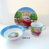 Набор детской фарфоровой посуды для малышей