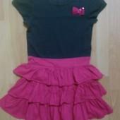 Фирменное трикотажное платье 8-9 лет