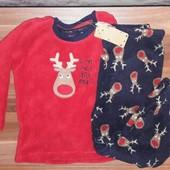 Пижама Primark для мальчика флисовая пижама плюшевая