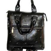 Мужская сумка в деловом стиле 2 в 1 эко-кожа (8956-3)