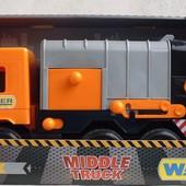 "Машина  ""Middie truck"" мусоровоз Сity, ТМ Wader 39312"