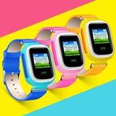 Original smart baby watch Q60s распродажа голубой цвет