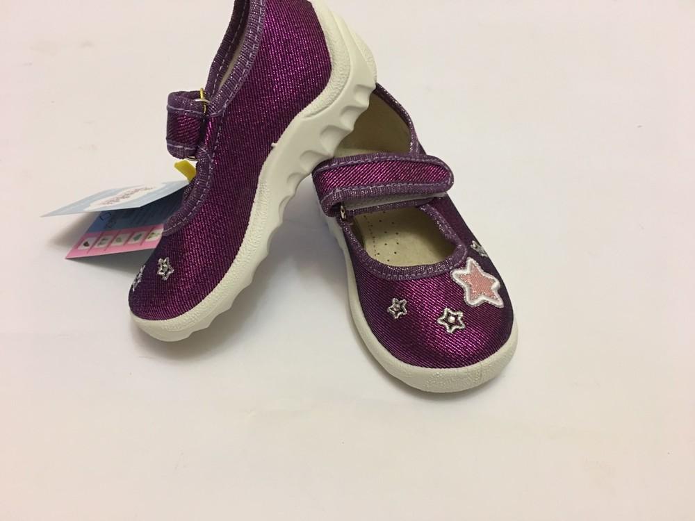 Мокасины, тапочки фиолетовые с сердечком фото №11