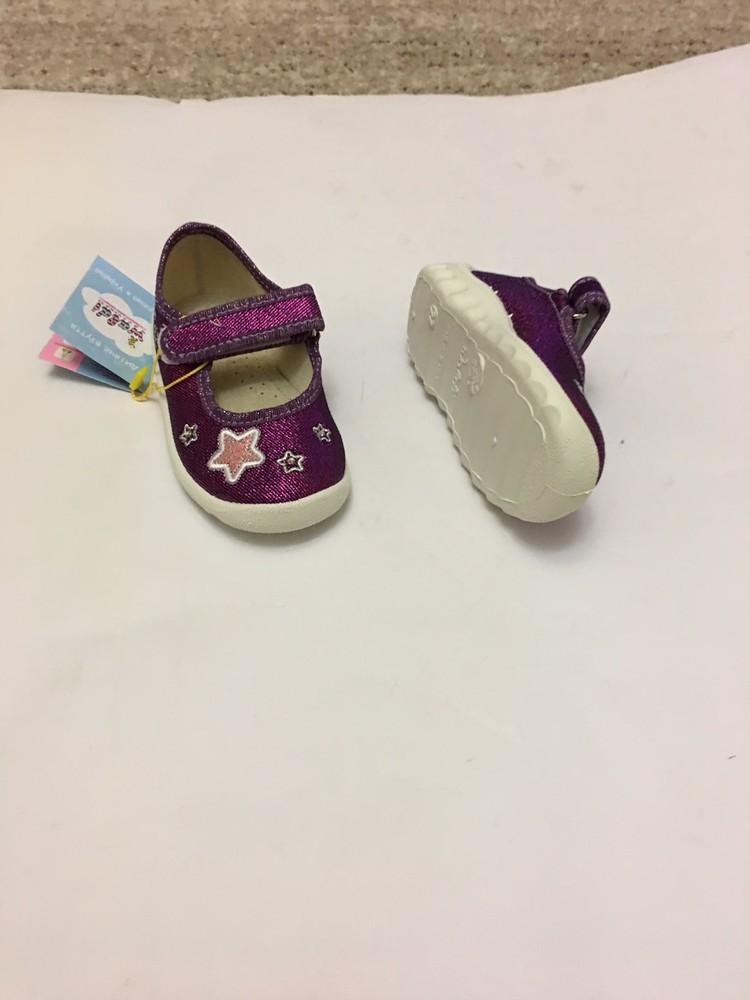 Мокасины, тапочки фиолетовые с сердечком фото №2