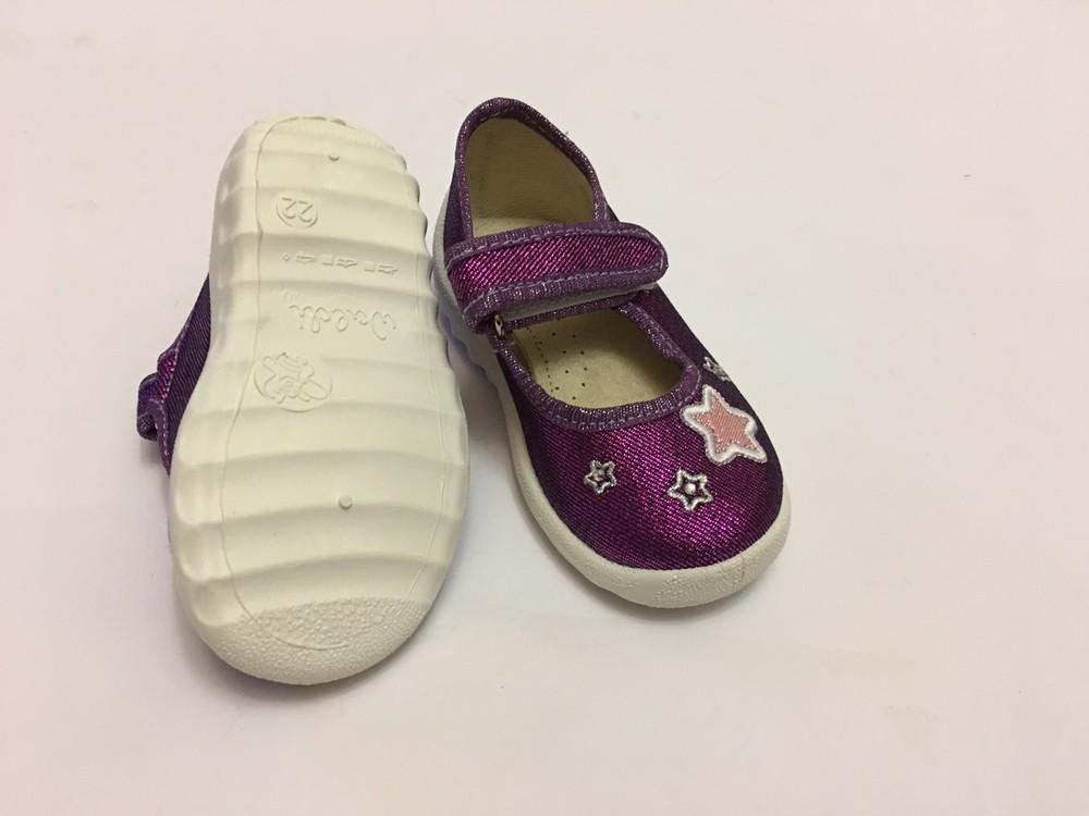 Мокасины, тапочки фиолетовые с сердечком фото №7