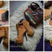 Ботинки-тимберленды кожа на каблуке,р-р 37,5