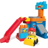 Mega Bloks Первые строители гараж spin 'n play spinning garage playset