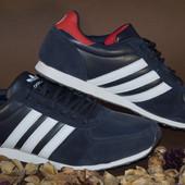 Мужские кроссовки Adidas Desing Адидас Дисинг  темно синий