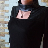 Платье-туника Lamazone с кож.вставками.