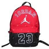 Стильный рюкзак красного цвета с белым логотипом (902)