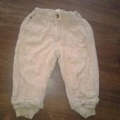 штаны фирменные   H&M  от 9 до 12 месяцев