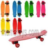 Пенни борд Penny board. Скейт MS 0847 антискол. Пластик подвеска