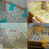 Двусторонний набор постельного в кроватку без балдахина