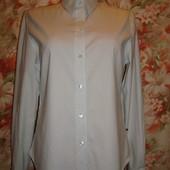 Приталенная рубашка хлопковая, в полоску р. 10-12