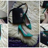 Невероятные новые туфли весенняя зелень от Next,р-р 42