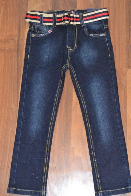 Стильные джинсы с ремнем венгрия 134-164 фото №1