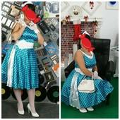 Прокат Платье в стиле пин ап стиляга