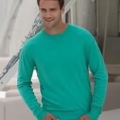 Свитер мужской пуловер бирюзовый