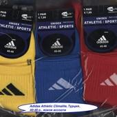 Носки мужские Adidas Athletic Climalite, 40-46 р., деми, х/б, средние, цветное ассорти