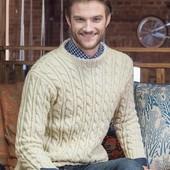 Свитер мужской пуловер косичка тренд сезона