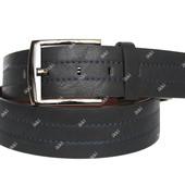 Модный мужской ремень - пояс черного цвета (П-036)