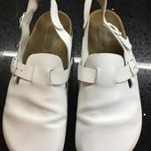 Ортопедические кожаные шлепанцы сандали тапочки Германия