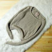 S-M Pull&Bear укороченный кремовый свитер плотной вязки!