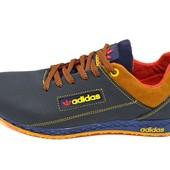 Подростковые кроссовки Adidas trainer lea blue carrot (реплика)
