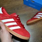 Кроссовки мужские Adidas Hamburg красные адидас гамбург
