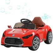 Машина детская 3401, 2 мотора, колеса eva, кожаное сиденье, мыльные пузыри,