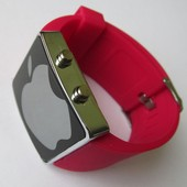 Ультрамодные спортивные унисекс часы красные