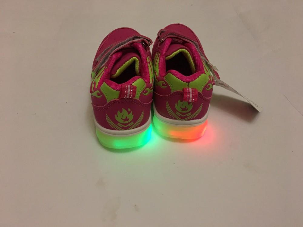 Кроссовки розовые мальвина светятся фото №3