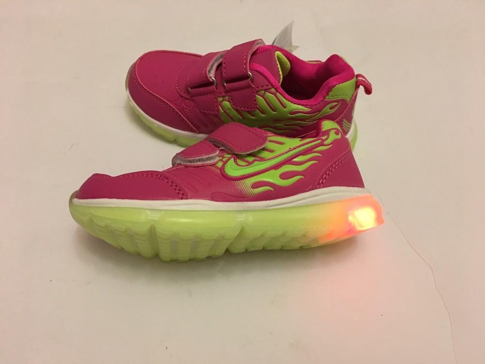 Кроссовки розовые мальвина светятся фото №4