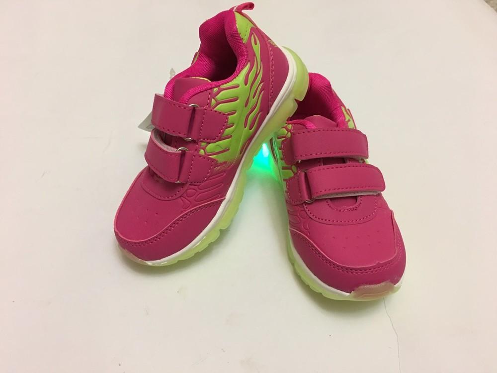 Кроссовки розовые мальвина светятся фото №5